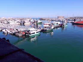 Der Hafen von Herbautiere ist der bedeutenste Fischereihafen der Insel Noirmoutier.