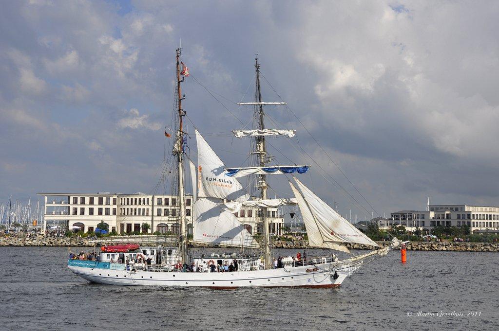 Segelschulschiff Greif Gesunken