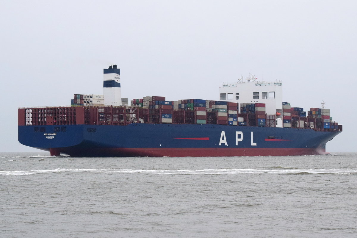 APL CHANGI , Containerschiff , IMO 9631981 , Baujahr 2013 , 397.56 × 51m , 14000 TEU , Cuxhaven , 19.12.2018