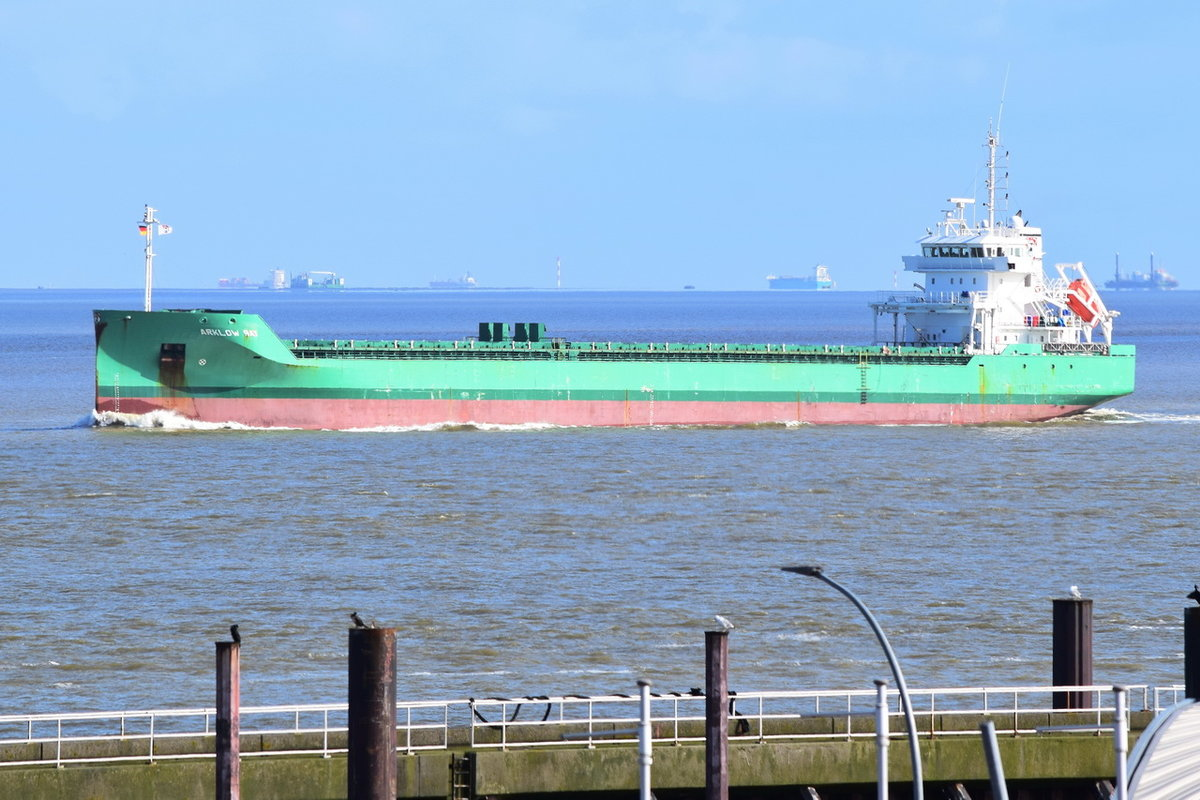 ARKLOW BAY , General Cargo , IMO 9638771 , Baujahr 2014 , 119.49 x 14.99 m , Cuxhaven , 19.03.2020