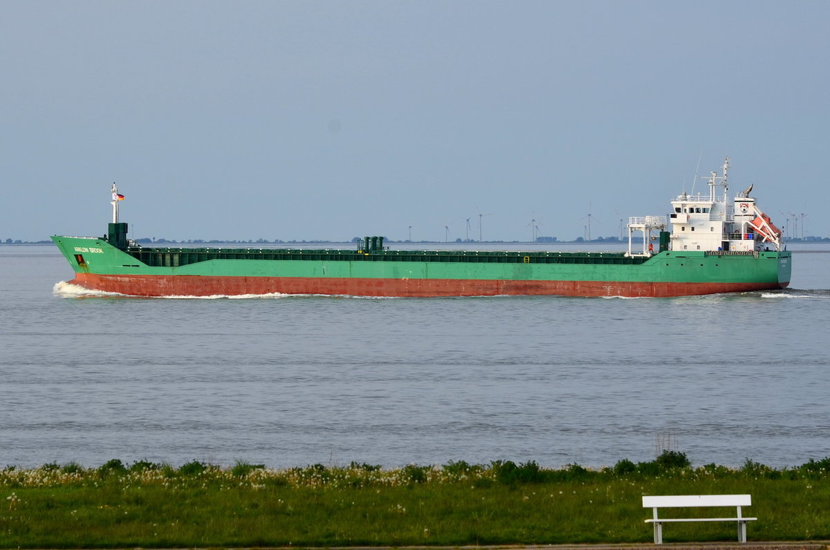 ARKLOW BROOK , 	General Cargo , IMO 9433377 , Baujahr 2011 , 265 TEU , 116.1 × 15.8m , 15.05.2017  Cuxhaven