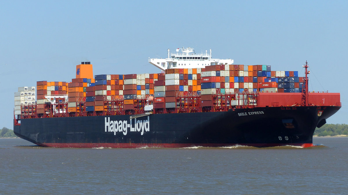 Basle Express  09.05.2016 Grünendeich, Kurs Hamburg 
