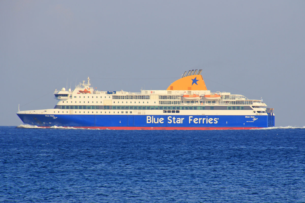 Blue Star Ferries, Patmos, IMO: 9565041, 09.10.2018, Rhodos, Grece.