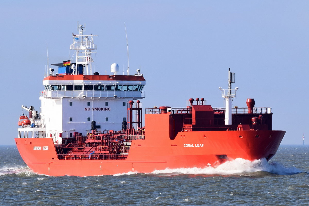 CORAL LEAF , LPG Tanker , IMO 9404625 , Baujahr 2008 , 108 × 16.8m , 30.03.2018 Cuxhaven Alte Liebe