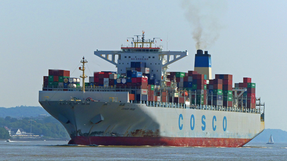 COSCO PRIDE  Hamburg. 21.08.2015