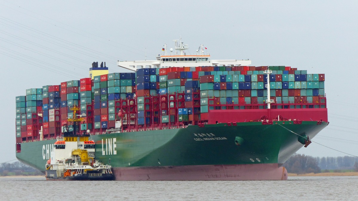 CSCL INDIAN OCEAN  Hamburg 08.02.2016