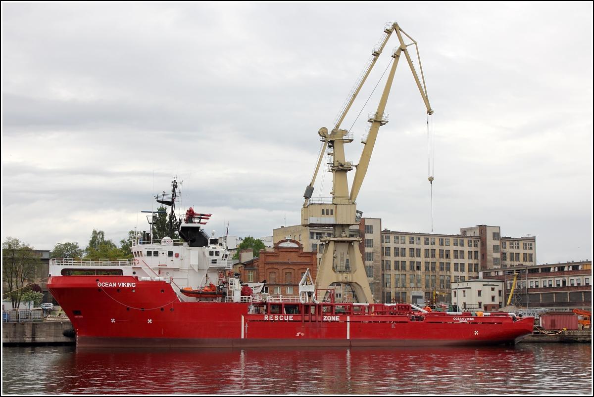 Die 1986 Gebaute OCEAN VIKING (IMO 8506854) Liegt Am 09.05