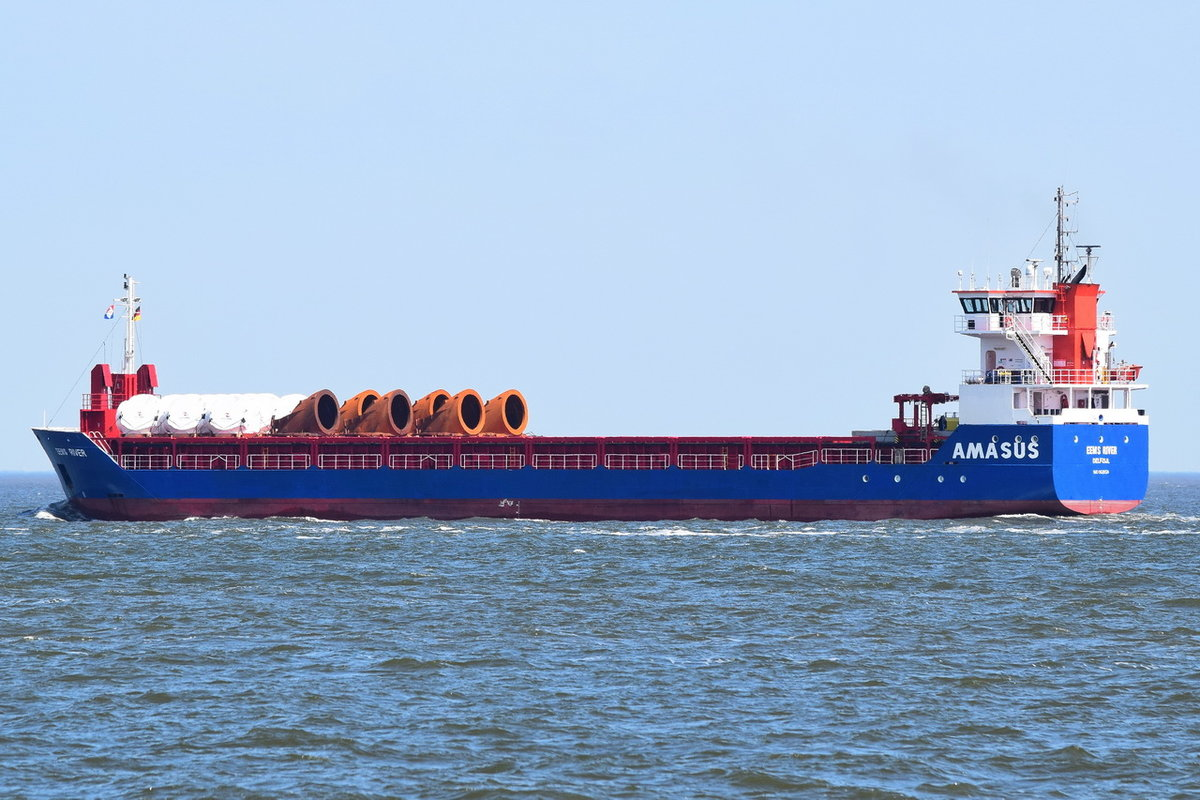 EEMS RIVER , General Cargo , IMO 9528524 , Baujahr 2012 , 89.92 x 12.5 m , 03.06.2020 , Cuxhaven