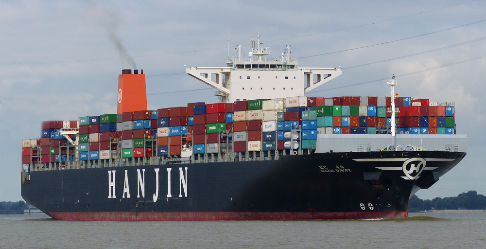 HANJIN EUROPE  Kurs Hamburg 08.09.2015