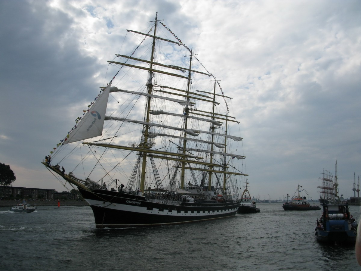 Krusenstern  in Warnemünde 09.08.2014 Hansesail 2014