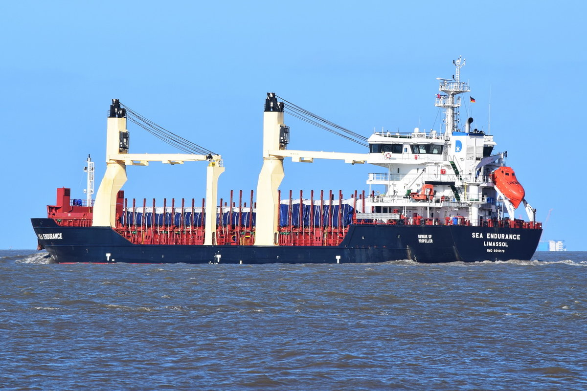 SEA ENDURANCE , General Cargo , IMO 9516179 , Baujahr 2012 , 109.83 x 18.6 m , Cuxhaven , 14.03.2020