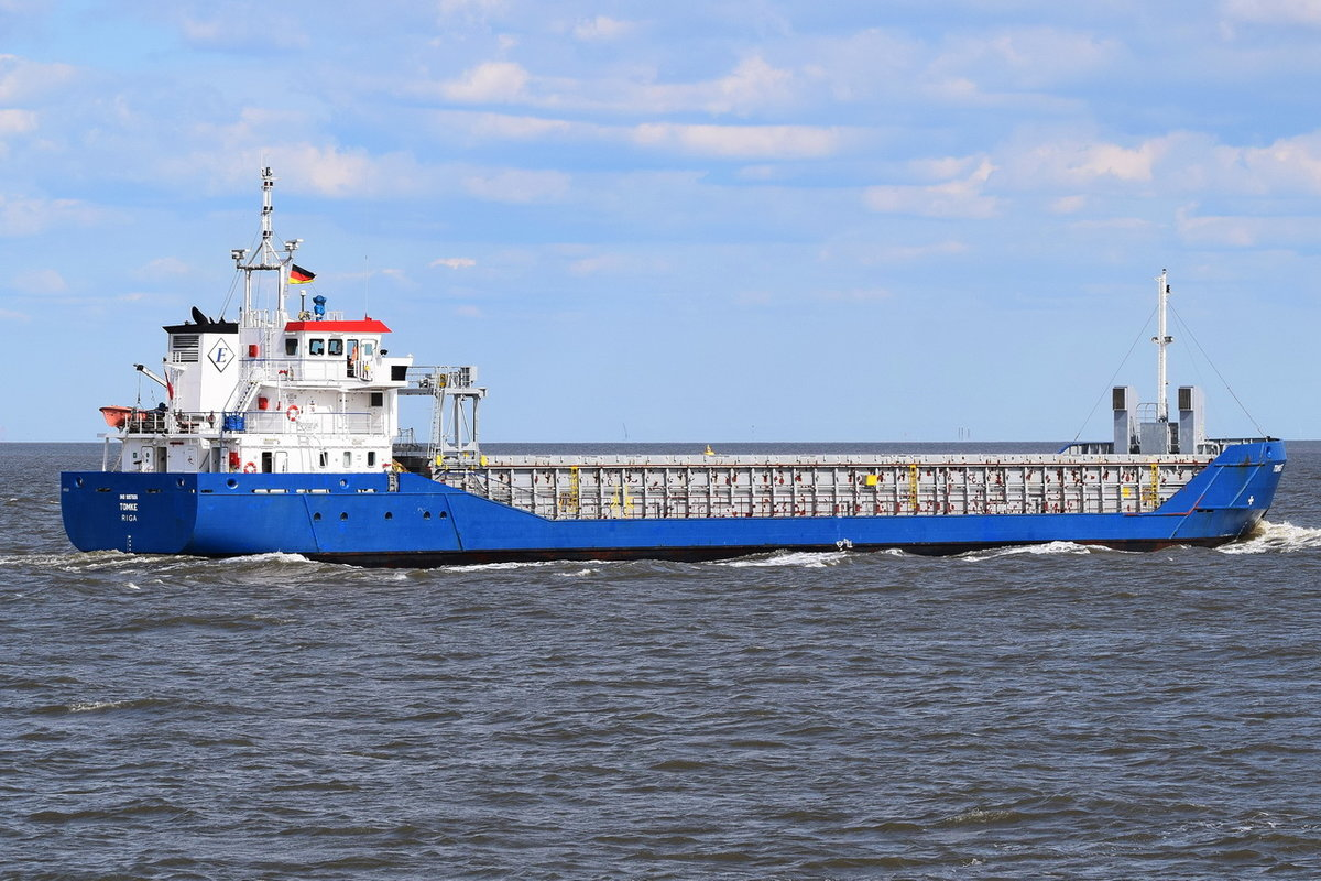 Tomke , General Cargo , IMO 9197806 , Baujahr 2000 , 82.5 × 12.4m , 14.05.2019 , Cuxhaven
