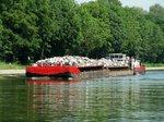 SB Bizon-0-141 (08356048 , 20,89 x 8,24m) schob am 24.06.2016 zwei je 32,50m lange Leichter im Pacrow-Paretzer-Kanal bei km 30 Richtung Brandenburg/Havel.