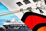 AIDAsol und Mein Schiff 2 im Hafen von Arrecife, Lanzarote. Aufnahme vom 09.02.2017
