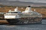 MEIN SCHIFF 2 am 09.02.2017 im Hafen von Arrecife, Lanzarote