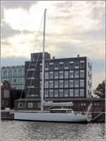 Die EUGEN SEIBOLD ist die neue, 2018 bei der Michael Schmidt-Werft in Greifswald gebaute Forschungsjacht des Max-Planck-Instituts für Chemie in Mainz. Sie ist 21,86 m lang, 6 m breit und hat einen Tiefgang von 3,20 m. Neben 293 m² Segelfl&# ...