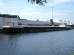 GMS Niedersachsen 8 (04002200 , 85 x 9m) lag am 29.05.2016 im Berlin-Spandauer Schifffahrtskanal am Berliner Westhafen.