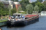 GMS ZENIT (04804810 , 85 x 9,5m) am 24.07.2016 auf der Havel in Berlin-Spandau festgemacht.
