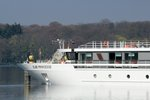 Bug des KFGS Elbe Princesse (01840744) am 13.04.2016 in Berlin-Tegel im Tegeler See.
