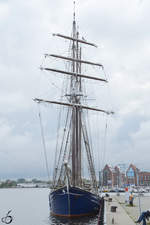 Das Segelschiff Santa Barbara Anna in Rostock (August 2013)