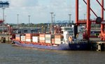 Containerschiff Pegasus am 29.08.16 in Bremerhaven