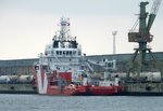 Offshore Versorger VOS Shine am 19.03.16 in Rostock