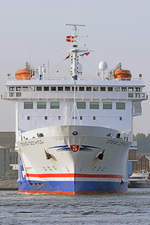 STENA GOTHICA am 6.10.2018 in Lübeck-Travemünde
