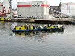 Bunkerboot Spree (05608470 , 30,70 x 5,24m) am 31.03.2016 im Berliner Westhafenkanal.